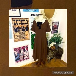 Hell Bunny Brown Circle Dress Size L